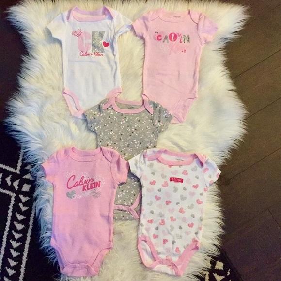 💥4/$20 Calves Klein Baby Onesies 0-3M